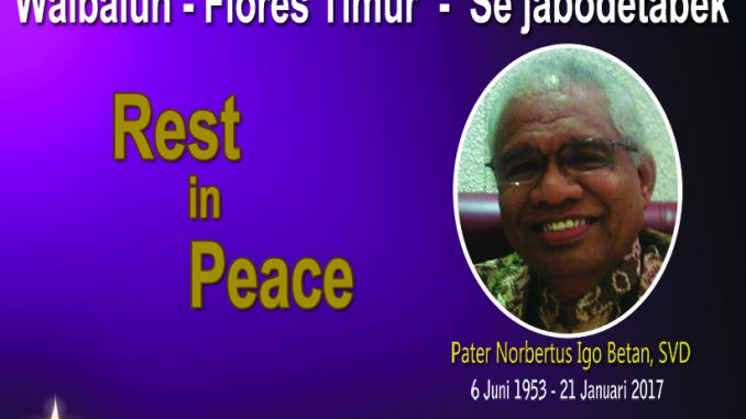 ucapan duka cita pater Norbertus Igo Betan SVD 2
