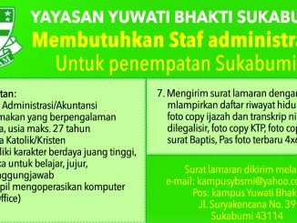 Lowongan Yay.Bhakti Sukabumi