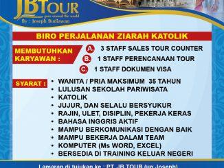 Iklan Lowongan Kerja JB Tour