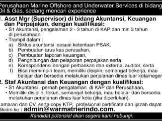 Iklan Lowongan Marine Offshore