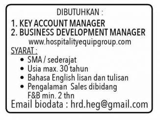 Lowongan Kerja Key Account Manager
